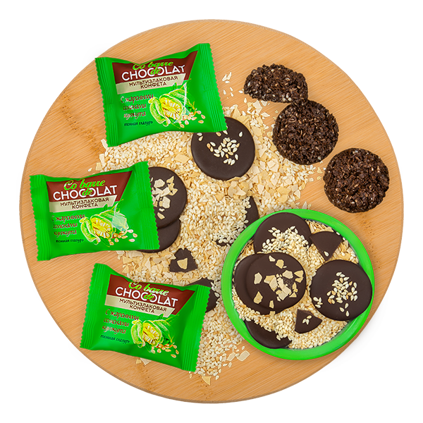 MULTIGRAIN SWEETS WITH NUTS, <br/> RAISINS AND ROASTED SESAME SEEDS